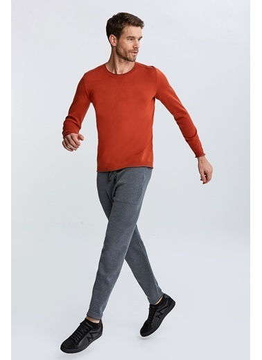 Hemington Extrafine Merino Bisiklet Yaka Loungewear Triko Oranj
